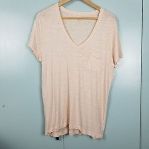 Madewell blush tshirt size L -Y1